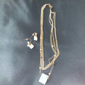 Used, J. jill necklace & earrings for sale